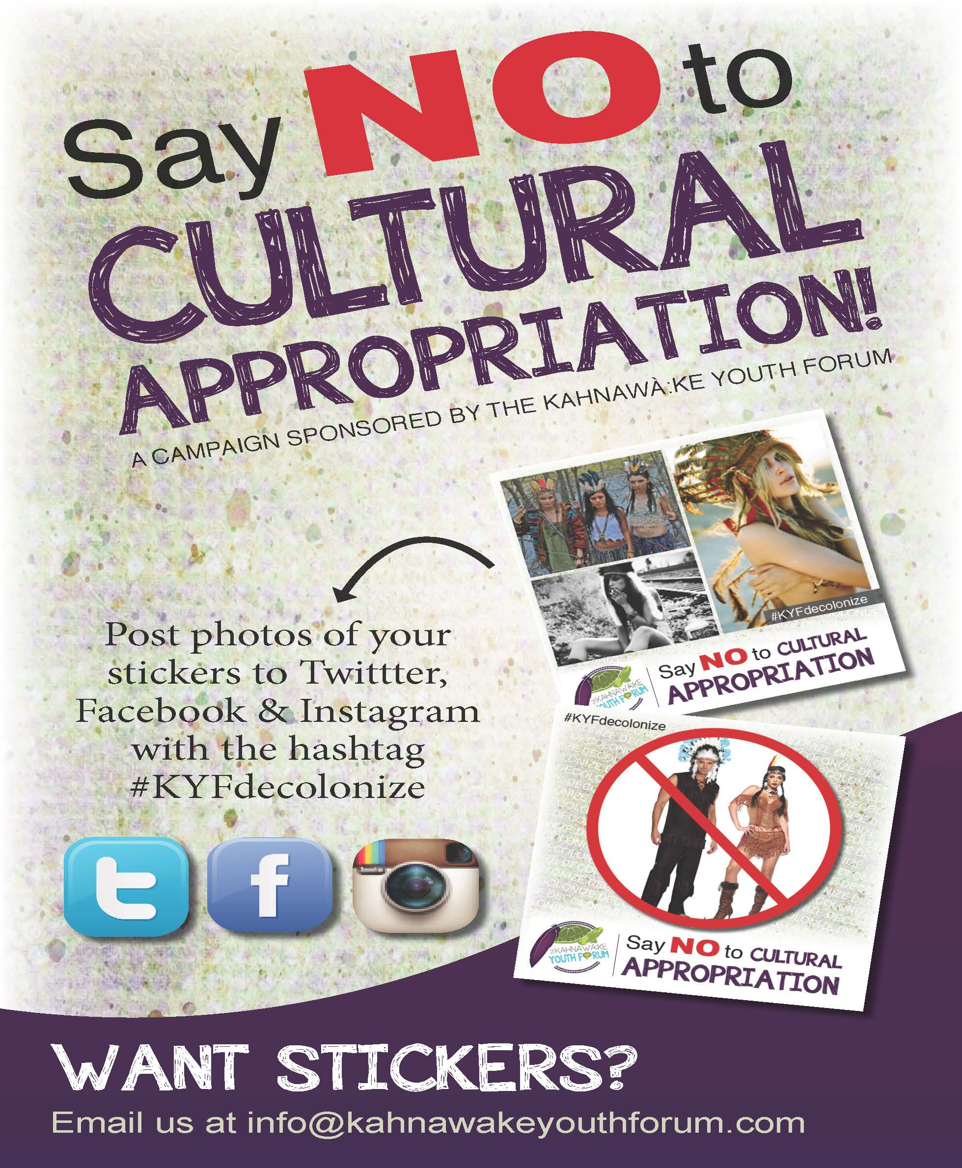 Download this The Say Cultural Appropriation Sticker Candaign picture