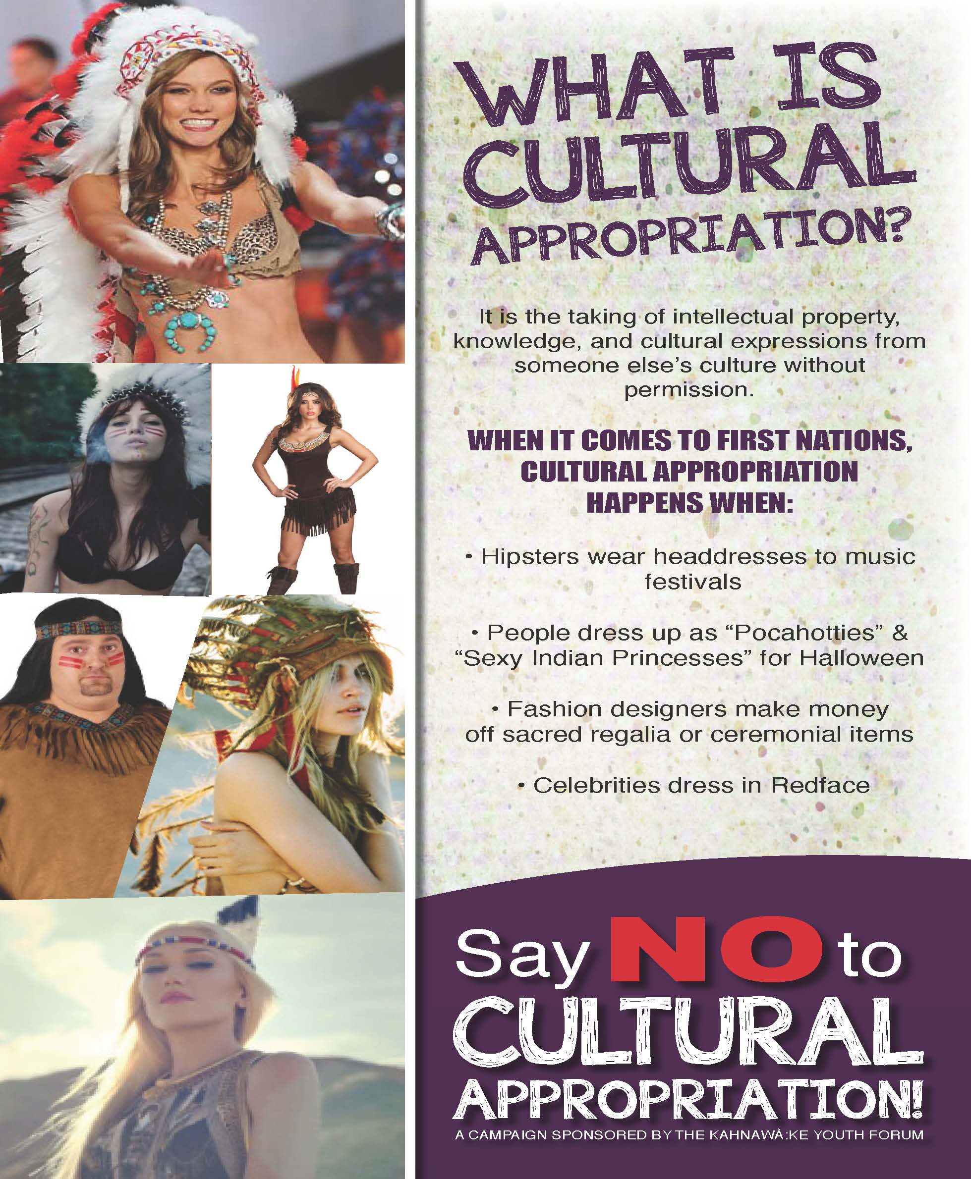 Download this Kyfs Say Cultural Appropriation Candaign Posters Page picture